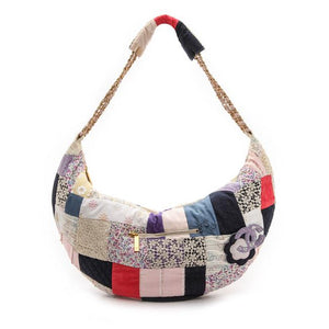 Chanel Classic Flap Limited Edition Classic Patchwork Assorted Multi Color Cotton Hobo Bag