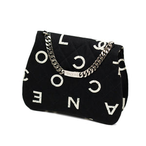 Chanel Small Logo Canvas Name Plate Flap Bag