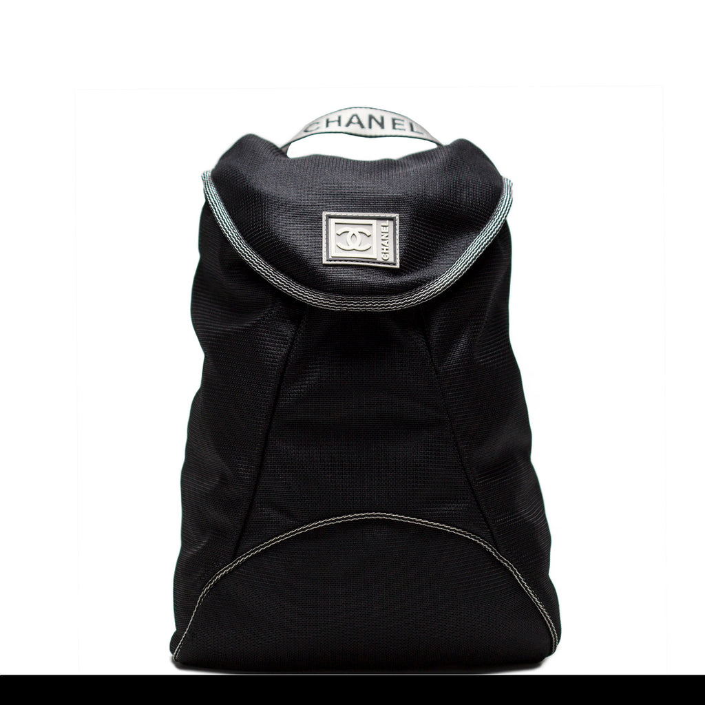 Chanel Microfiber Logo Backpack