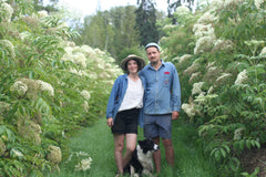 Louise & Jed, founders and farmers at Elderberry Grove