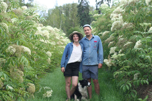 Louise Lecouffe & Jed Wiebe: organic elderberry farmers at Elderberry Grove
