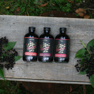 elderberry syrup, elderberry shrub, elderberry juice from elderberry grove organic farm