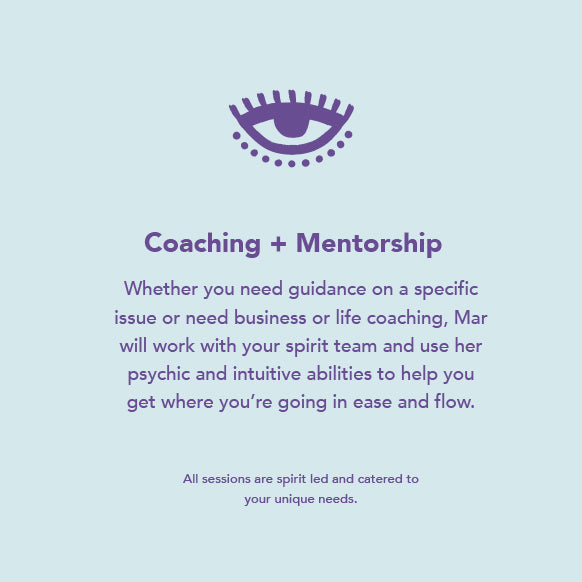 Coaching + Mentorship with Mar