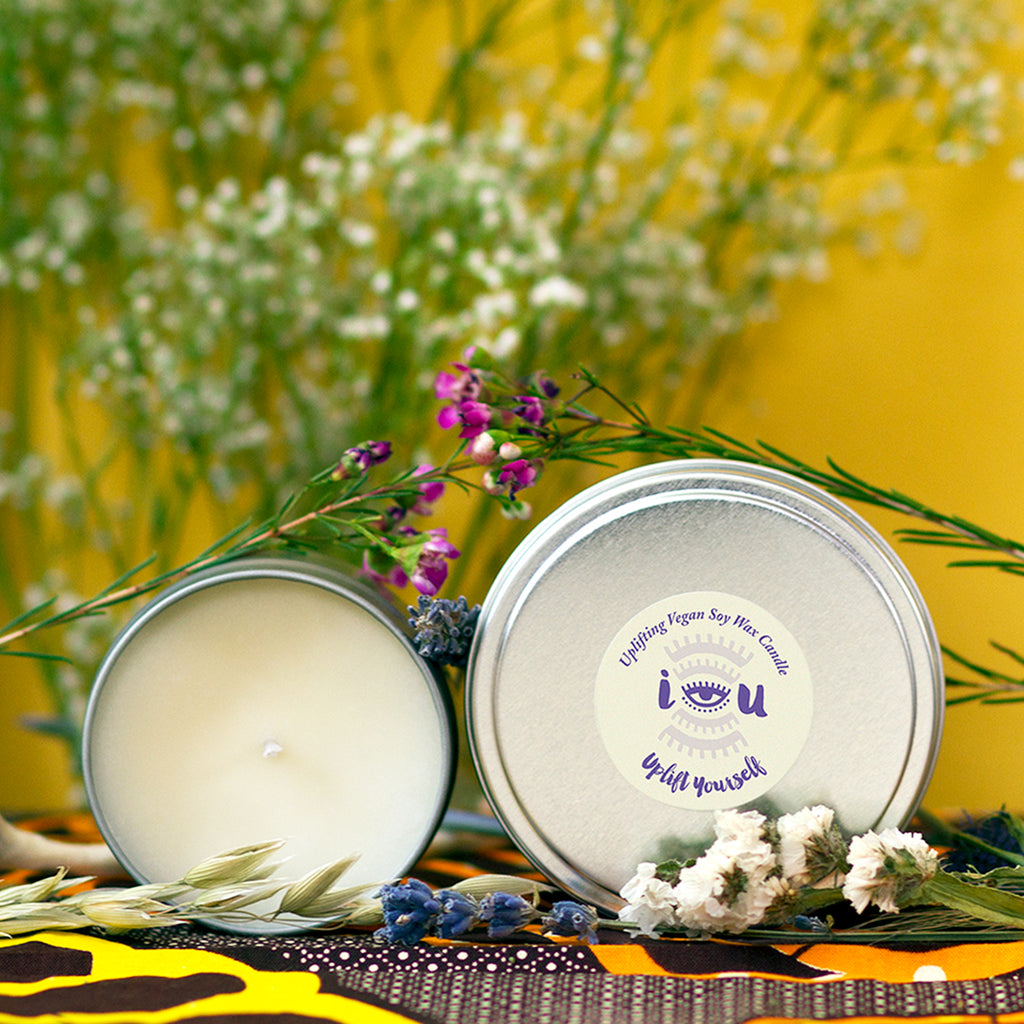 """Uplift Yourself"" Uplifting Soy Wax Candle"