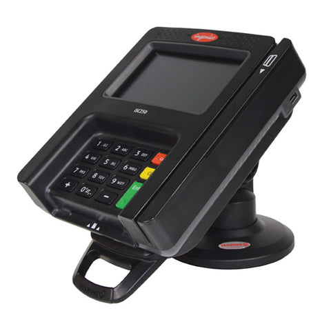 Stand for Ingenico iSC250 Credit Card Machine - Latch & Lock (NO KEY) - Compact 11.7 cm