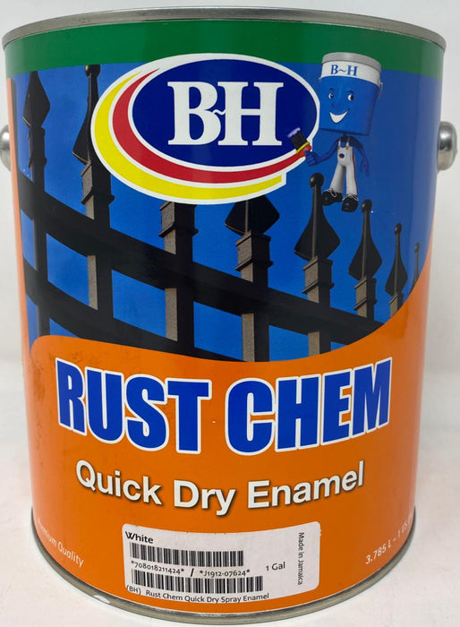 BH Rust Chem Quick Dry Enamel White Gallon