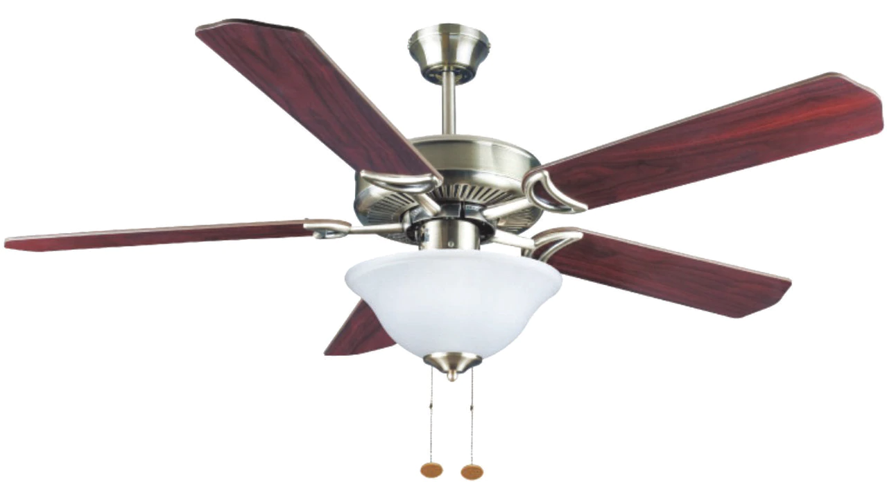 "Windy Ceiling Fan 52"" Antique Brass Dome Light WCF-5251"