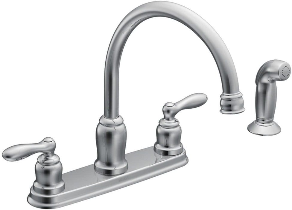 Moen Caldwell 2 Handle and Spray Chrome Kitchen Faucet CA87888
