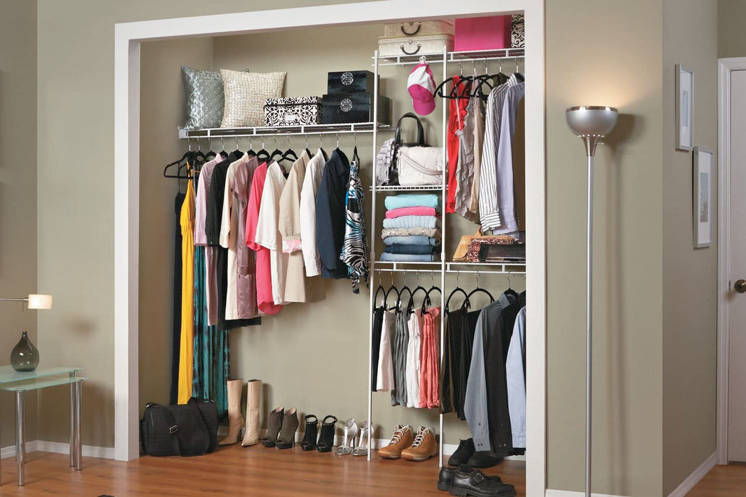 ClosetMaid 5 - 8ft White Complete Closet Organizer Kit 1628