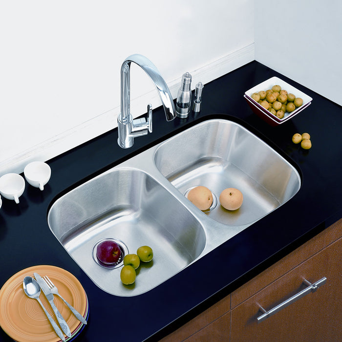 Vesta Undermount Double Kitchen Sink Even 3218-8