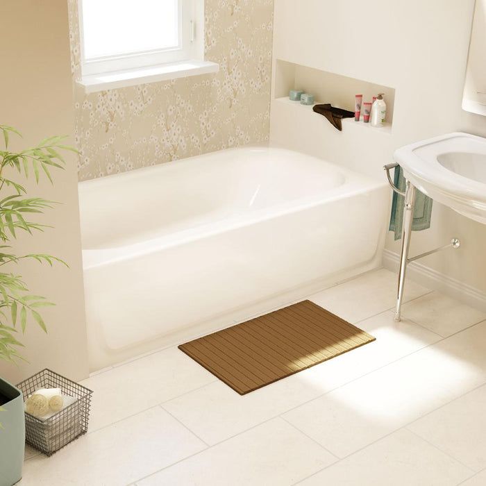 White Enamel Bath L/H
