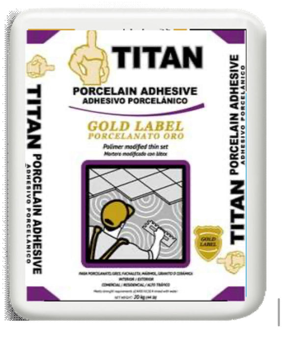 Titan Porcelain Thinset 20kg (44lbs)