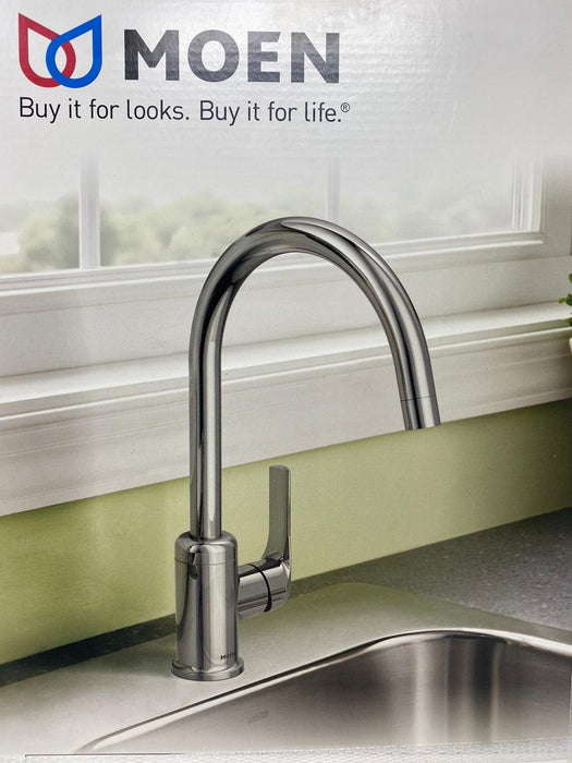 Moen Charmant Chrome 1 Handle High Arc Kitchen Faucet 87446