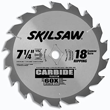 "Skil 7 1/4"" 18T Carbide Teeth 75718B25"