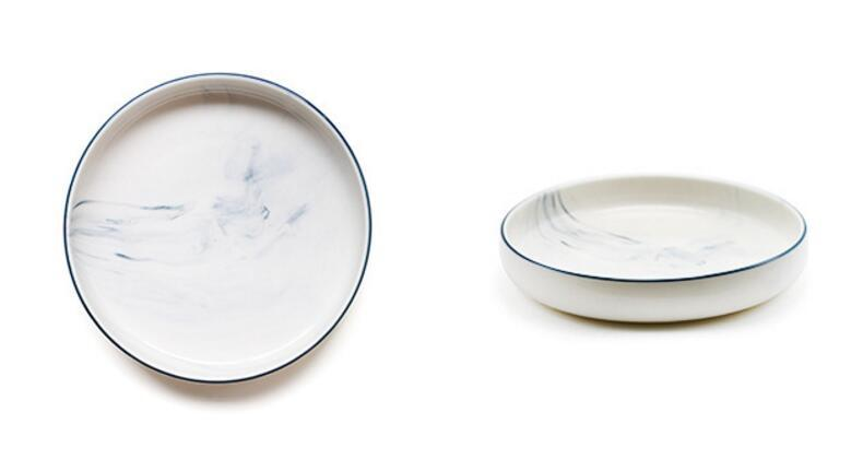 Marble Dinnerware Kitchen Set