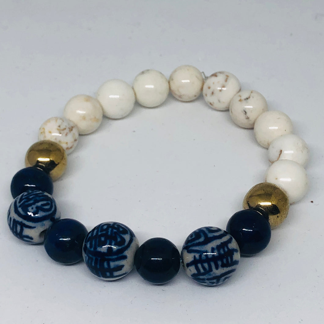 Blue & White Collection in Lapis and White Turquoise