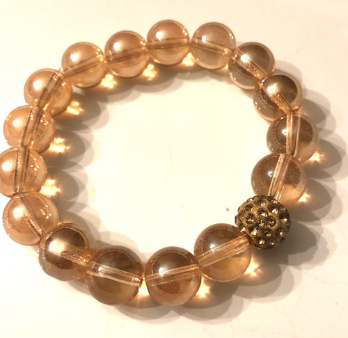 12mm Champagne Quartz with Golden Pave
