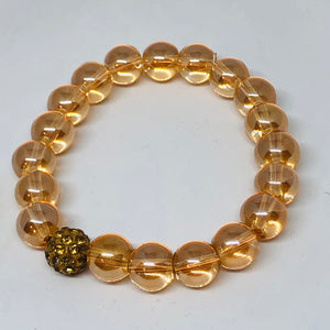 10mm Champagne Quartz with Golden Pave
