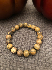 10mm Elephant Skin Jasper with Bronze Metal Accents