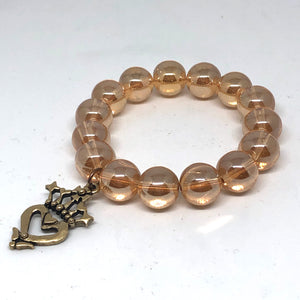 14mm Champagne Quartz with Brass Luckenbooth