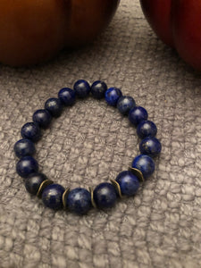 10mm Lapis Jasper with Bronze Metal Accents