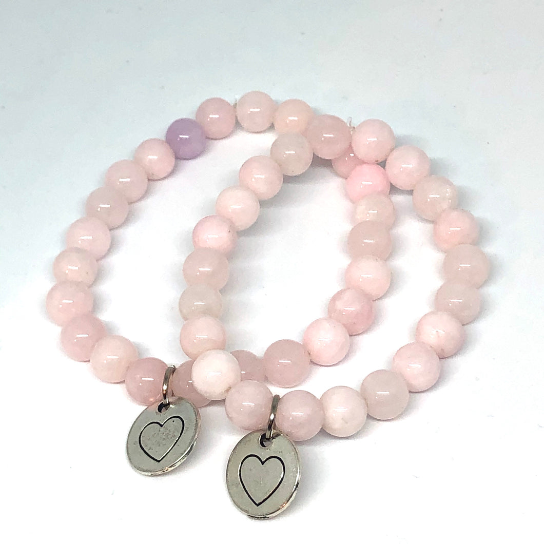 Mommy and Me Light Pink Jade Set