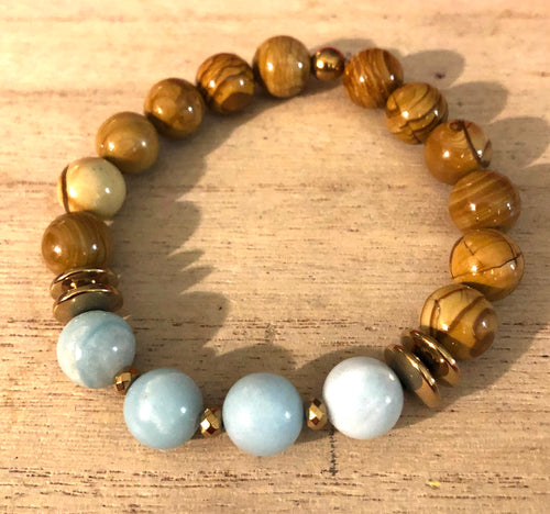 Scene Jasper and Amazonite Indie Bracelet