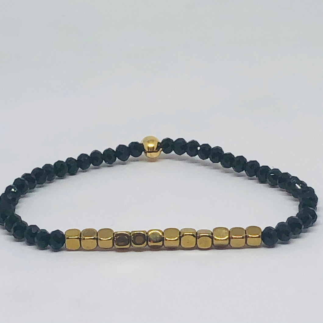 Hematite and Crystal Luxe Bracelet