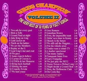 Coodabeen Champions - The Very Best Of 30 Years Of Footy Songs Volume II (CD)