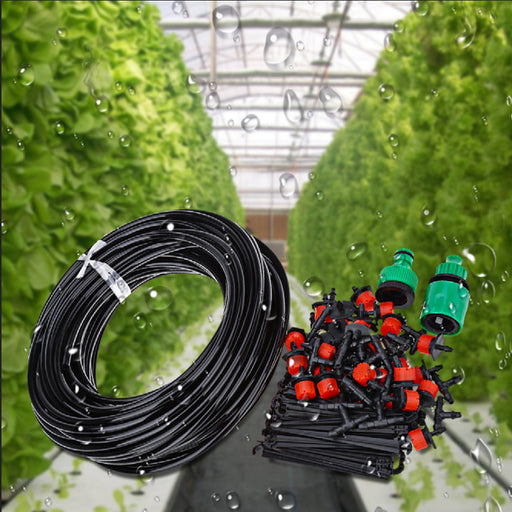 25M DIY Automatic Micro Drip Irrigation System Plant Watering Garden Hose Kits With Adjustable Dripper Smart Controller Suits