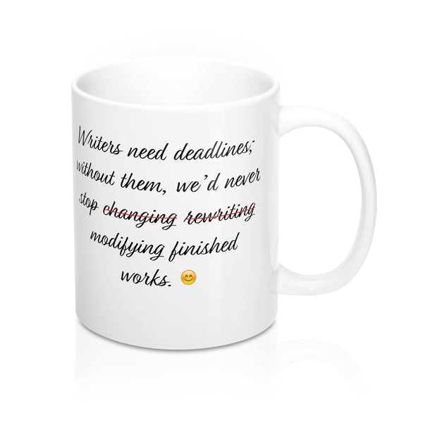 Writers' Slogan Mug 11oz