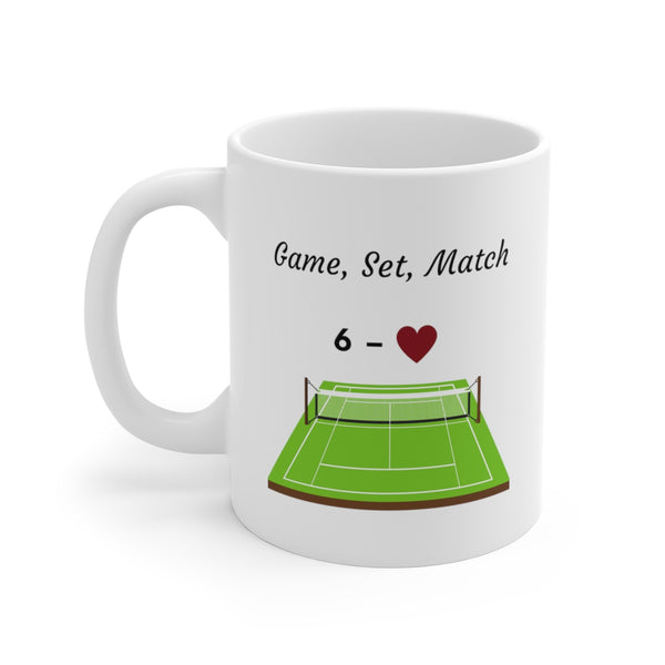 Game, Set, Match – Court Life Mug (White)