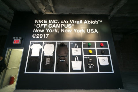 Part of the set-up for the Nike '' Off Campus '' event