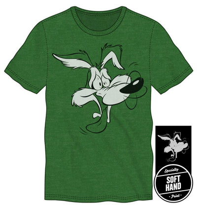 Looney Tunes Wile E. Coyote Men's Green T-Shirt Tee Shirt