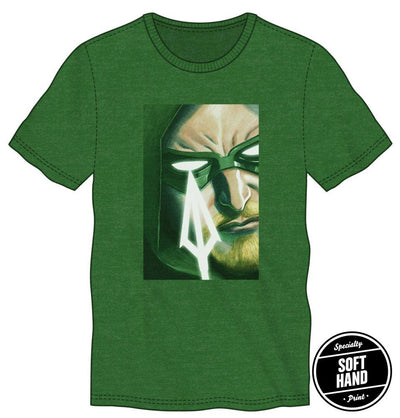 DC Comics Green Arrow Men's Kelly Green Shirt T-Shirt