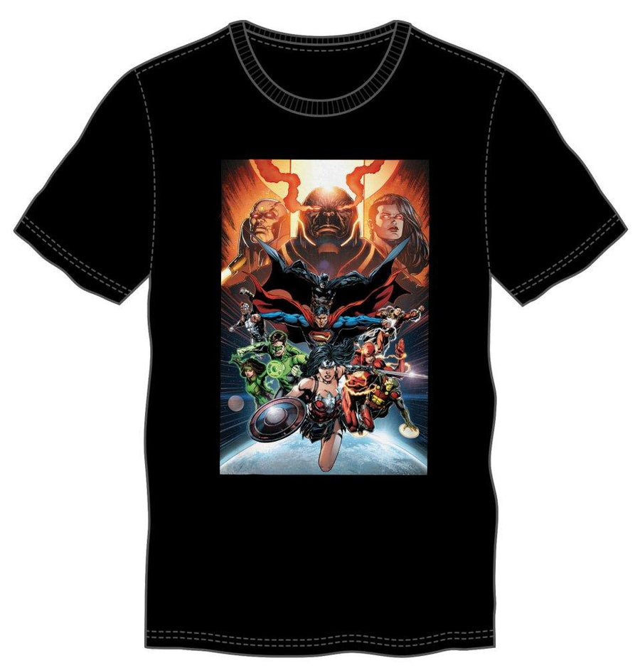 DC Comics Superheroes Justice League Men's Black Tee Shirt T-Shirt