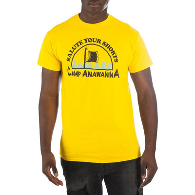 Nickelodeon Salute Your Shorts Camp Anawanna Men's Yellow T-Shirt Tee Shirt