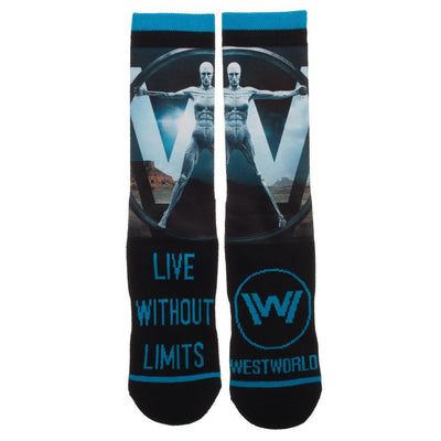 Westworld Sublimated Panel Crew Socks - Live without Limits Socks