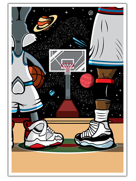 "Bluu Dreams SPACE JAM Print 13"" x 19"""