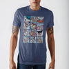 Ren and Stimpy Grid Blue T-Shirt