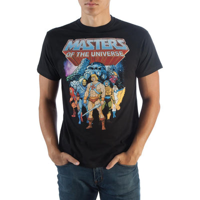 Masters Of The Universe Characters Black T-Shirt