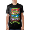 Teenage Mutant Ninja Turtles 4 Panel Black T-Shirt