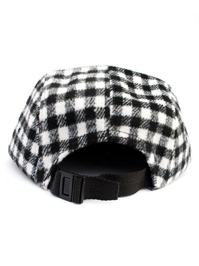 Diver Head Black/White Flannel 5 Panel Hat