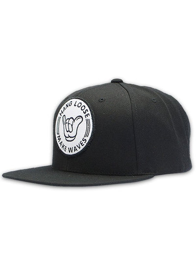 Black Hang Loose Snapback Hat