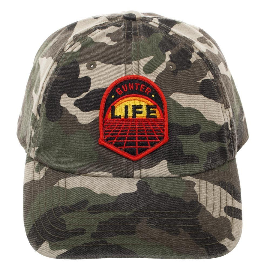 Camouflage Gunter Life Dad Hat, Single Patch Design on Adjustable Cap, Gamer Dad Gift Hunting Easter Eggs