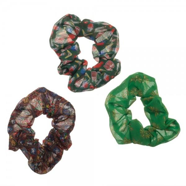 Wonder Woman 3 Pack Scrunchies