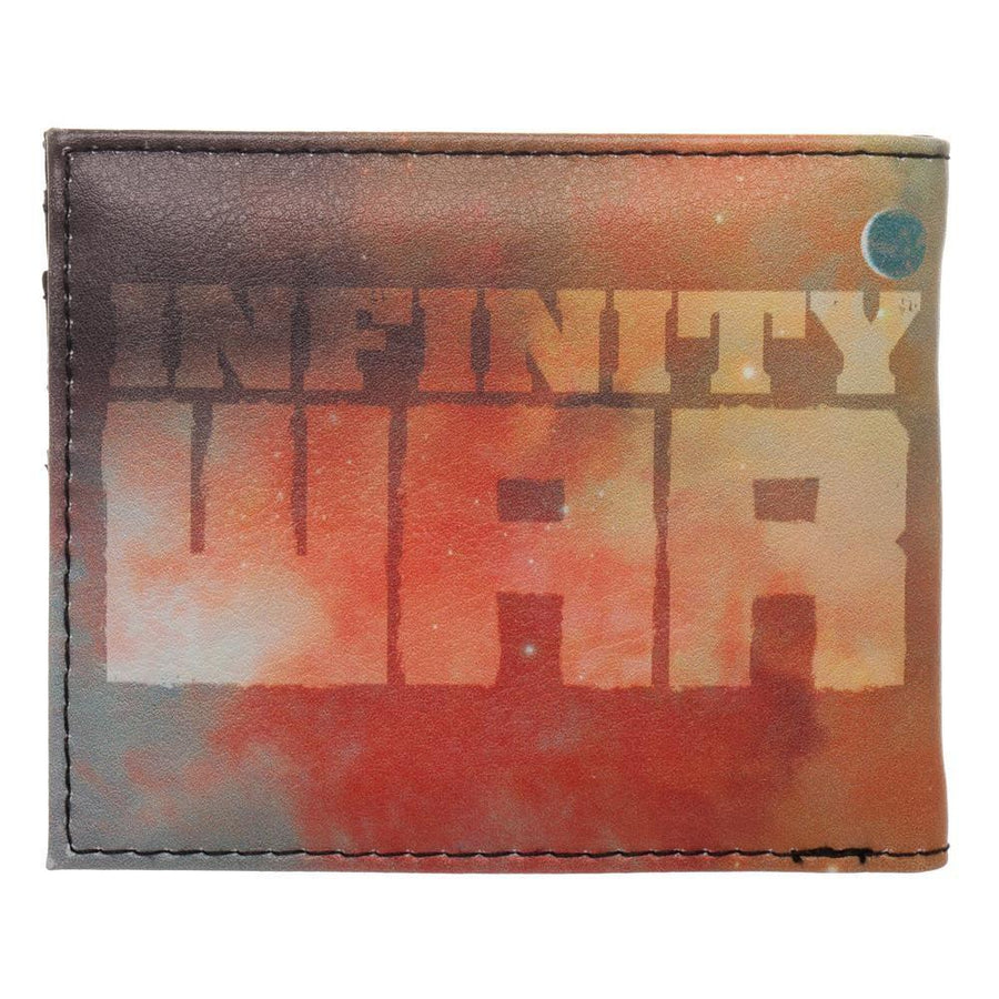 Thanos Gauntlet with Infinity Stones Nylon Printed Bi Fold Wallet, Space All Over Print, Avengers Infinity War Theme