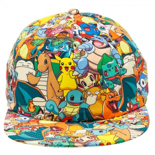 buy online f2dd3 d3a3f Pokemon All Over Sublimated Print Adjustable Cap