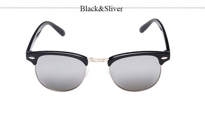 KickBackz Classic Half Metal Club Sunglasses