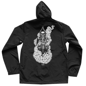 'Atacama Reaper' Hooded Windbreaker (Black)